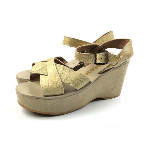 da7705fe8d3 Kork-Ease Shoes - Kork-Ease Ava Champagne Platform Sandals   37